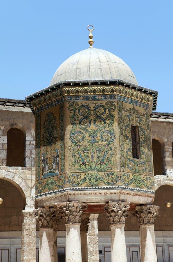 Mosquée d'Umayyad à Damas, Syrie. photos libres de droits