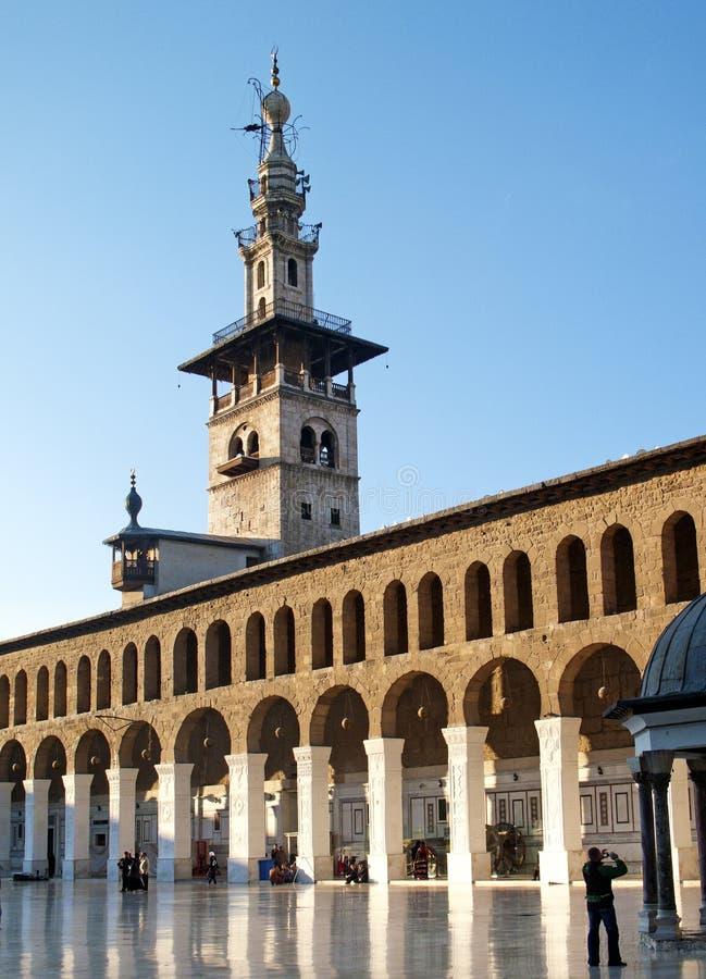 Mosquée d'Umayyad à Damas Syrie photos libres de droits