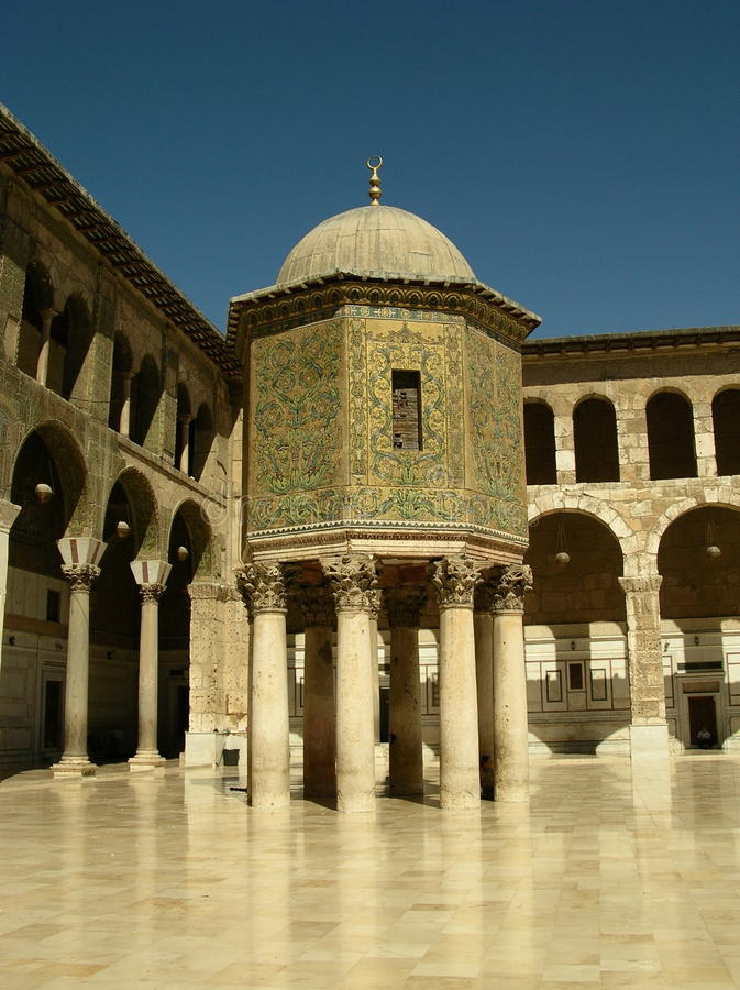 Mosquée d'Umayyad, Damas photo stock