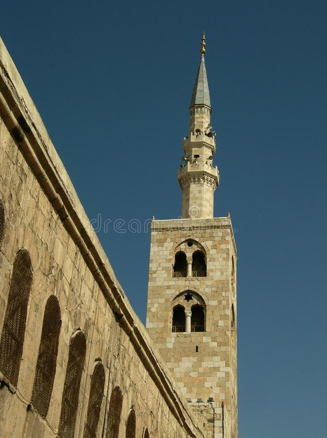 Mosquée d'Umayyad, Damas, le minaret de Jésus photos stock
