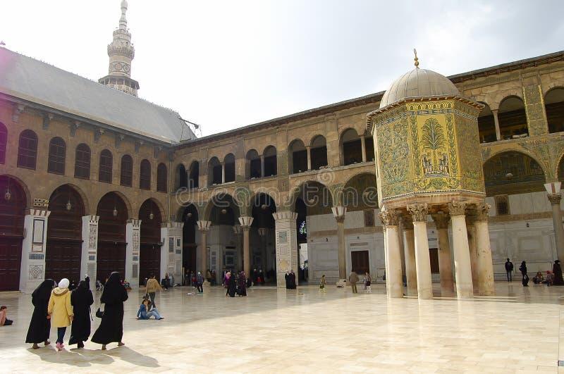 Mosquée d'Umayyad - Damas - Syrie avant guerre civile images libres de droits