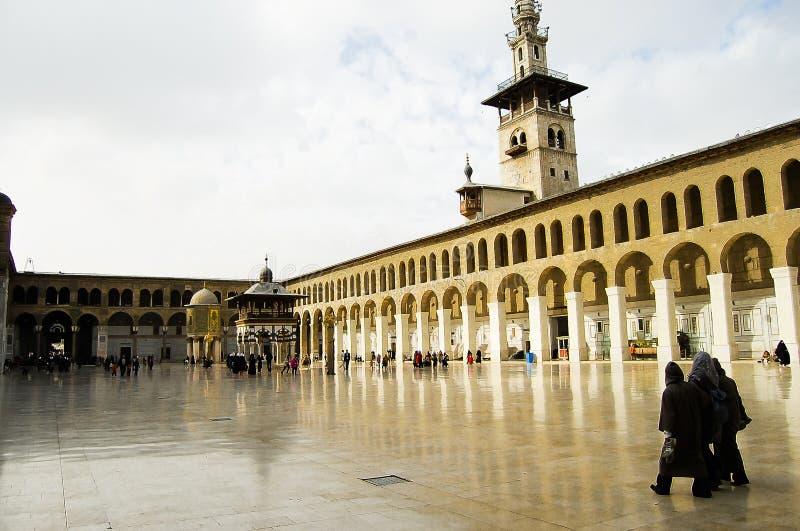 Mosquée d'Umayyad - Damas - Syrie avant guerre civile photos libres de droits
