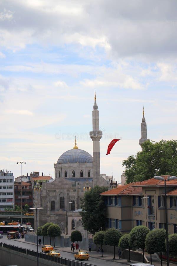 Mosquée dans Aksaray, Istanbul, Turquie photographie stock libre de droits