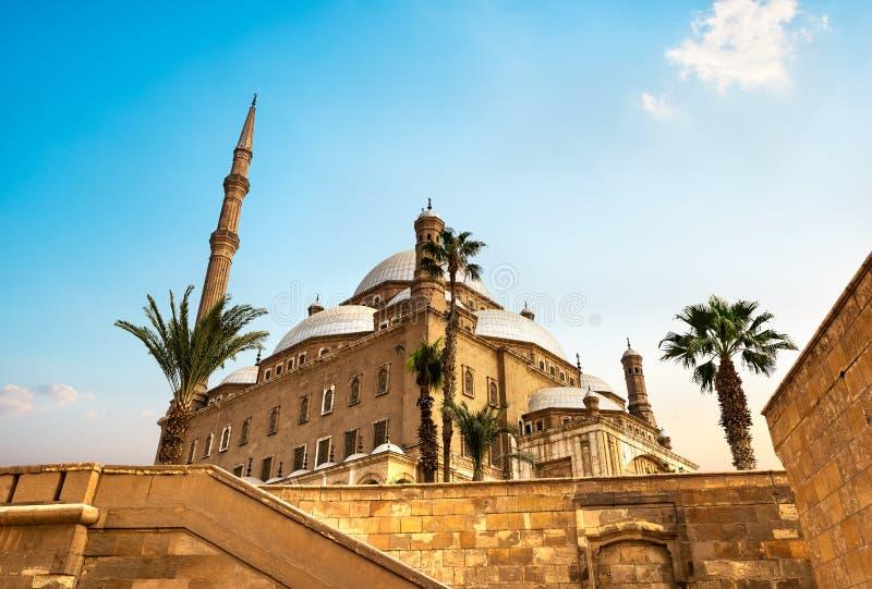 Mosquée dans la citadelle au coucher du soleil photographie stock libre de droits