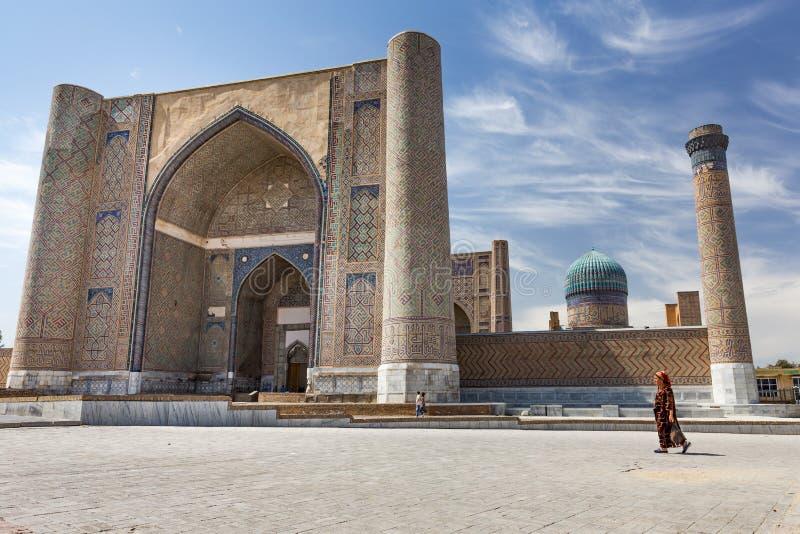 Mosquée de Bibi-Khanym à Samarkand, l'Ouzbékistan images libres de droits