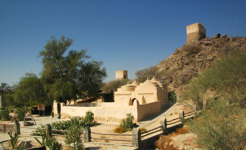 Mosquée de Bidiya d'Al, émirat du Foudjairah photo libre de droits