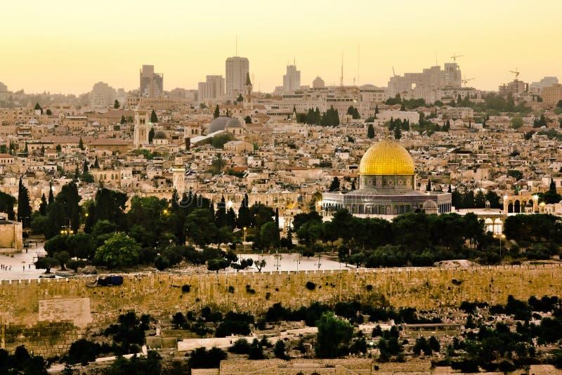 Mosquée de calife Omar à Jérusalem. image stock
