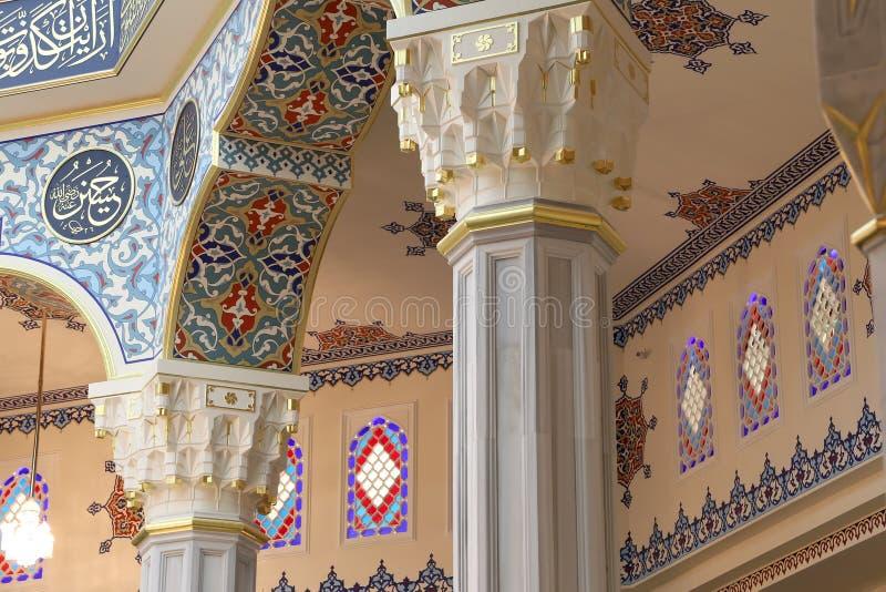 Mosquée de cathédrale de Moscou (intérieure), Russie -- la mosquée principale à Moscou, nouveau point de repère photographie stock libre de droits
