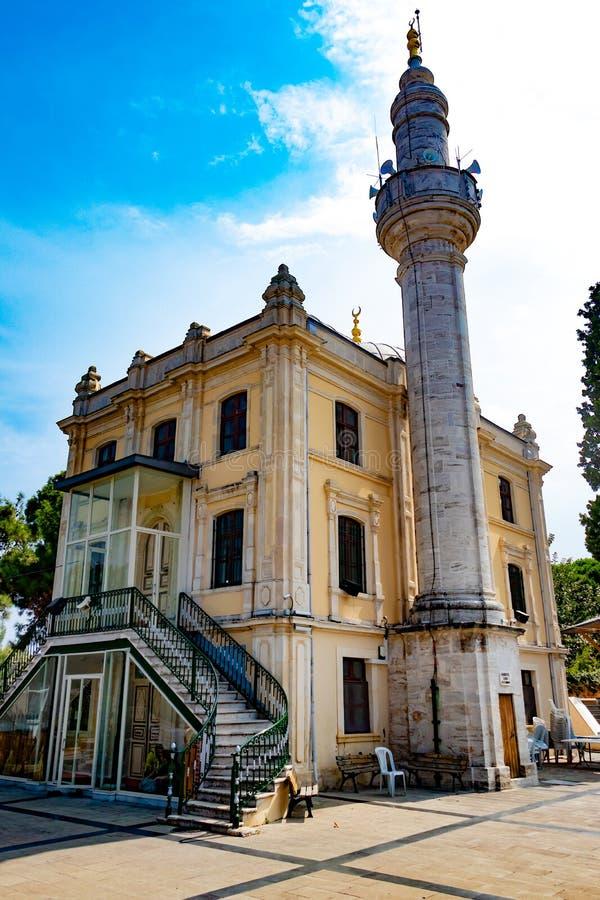Mosquée de Hamidiye dans princes Islands de Buyukada photographie stock libre de droits