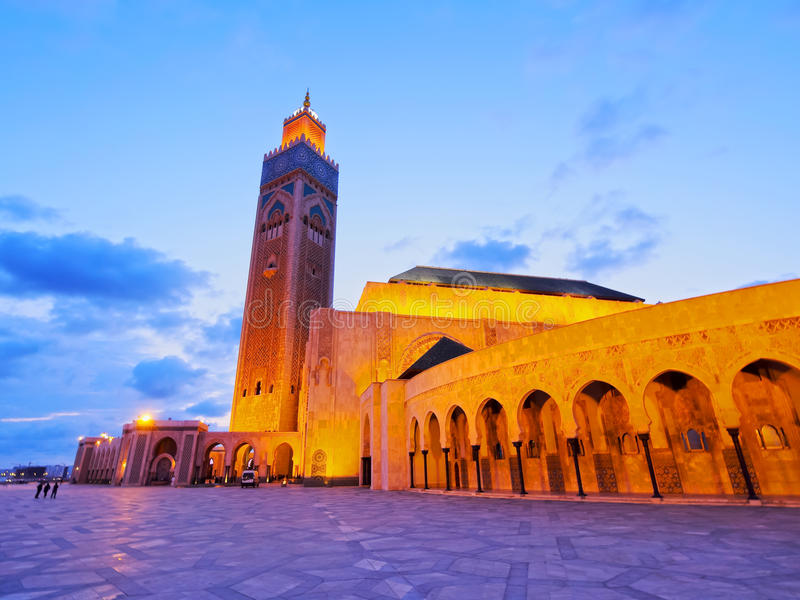 Mosquée de Hassan II à Casablanca photographie stock libre de droits