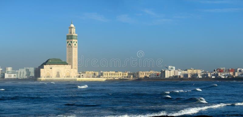 Mosquée de Hassan II à Casablanca Maroc images libres de droits