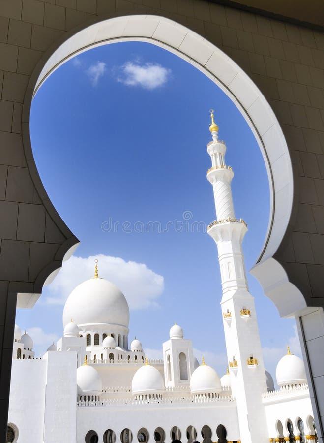 Mosquée de Heikh Zayed en Abu Dhabi, photographie stock
