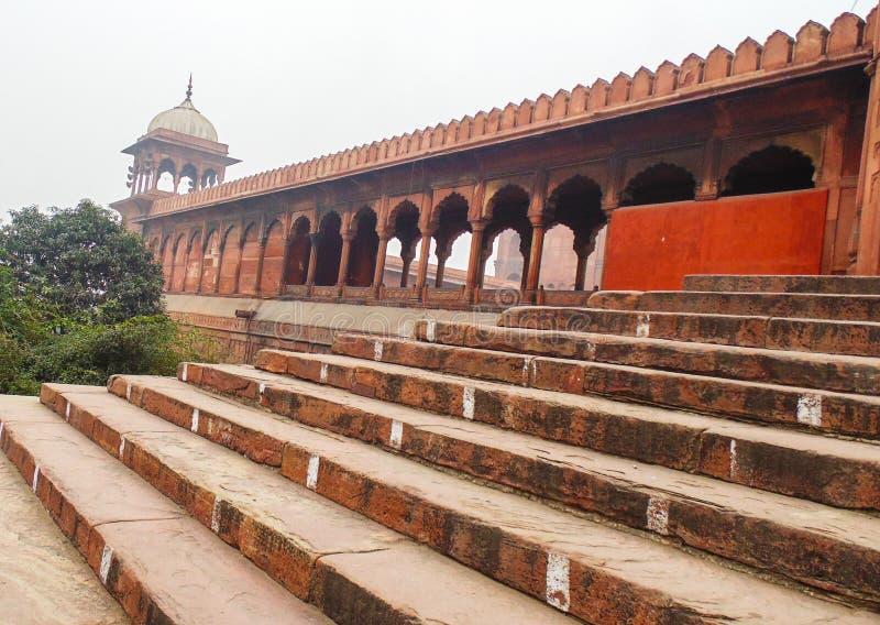 Mosquée de Jama à Delhi, Inde image libre de droits