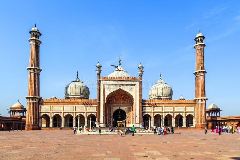 Mosquée de Jama Masjid, vieux Delhi, image stock