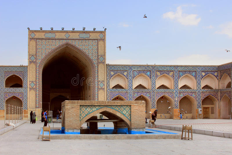 Mosquée de Jameh d'Isphahan (Iran) photo libre de droits