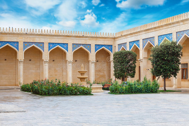 Mosquée de Juma, Samaxi Cume Mescidi, dans Shamakhi, l'Azerbaïdjan photographie stock libre de droits
