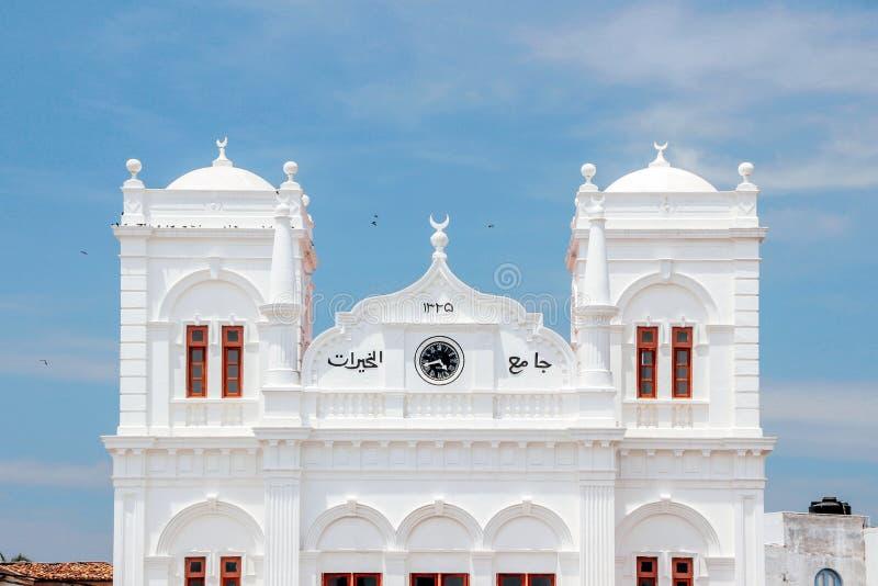 Mosquée de jumma de Meeran à Galle photographie stock libre de droits