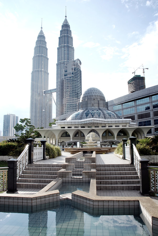 Mosquée de KLCC photos stock