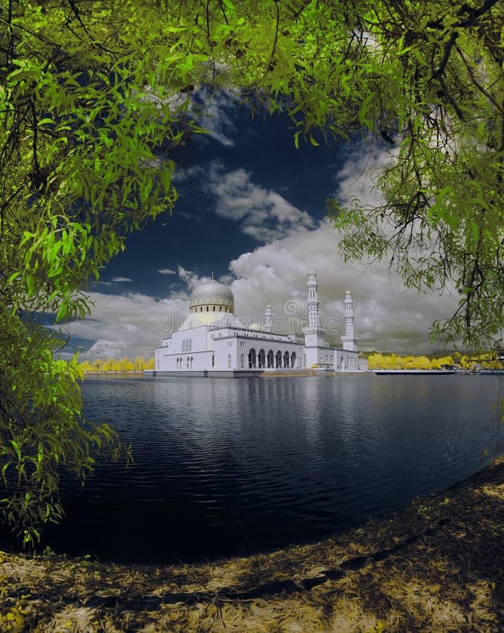 mosquée de kota de kinabalu de ville image libre de droits