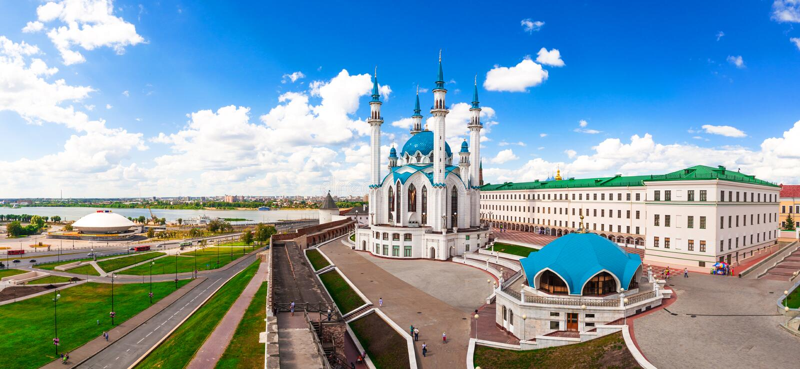 Mosquée de Kul-Sharif à Kazan photos stock