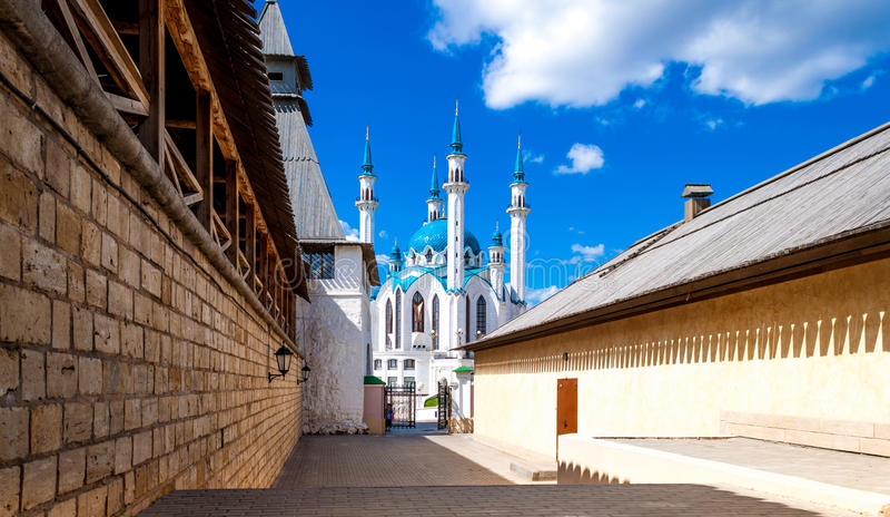 Mosquée de Kul-Sharif à Kazan images stock