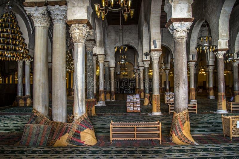 Mosquée de la Tunisie Kairouan images libres de droits