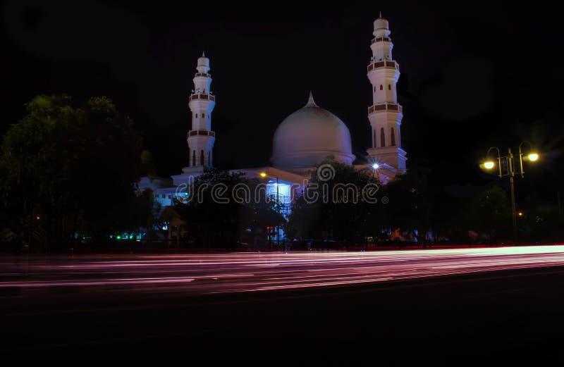 Mosquée de Lampriet la nuit photos stock