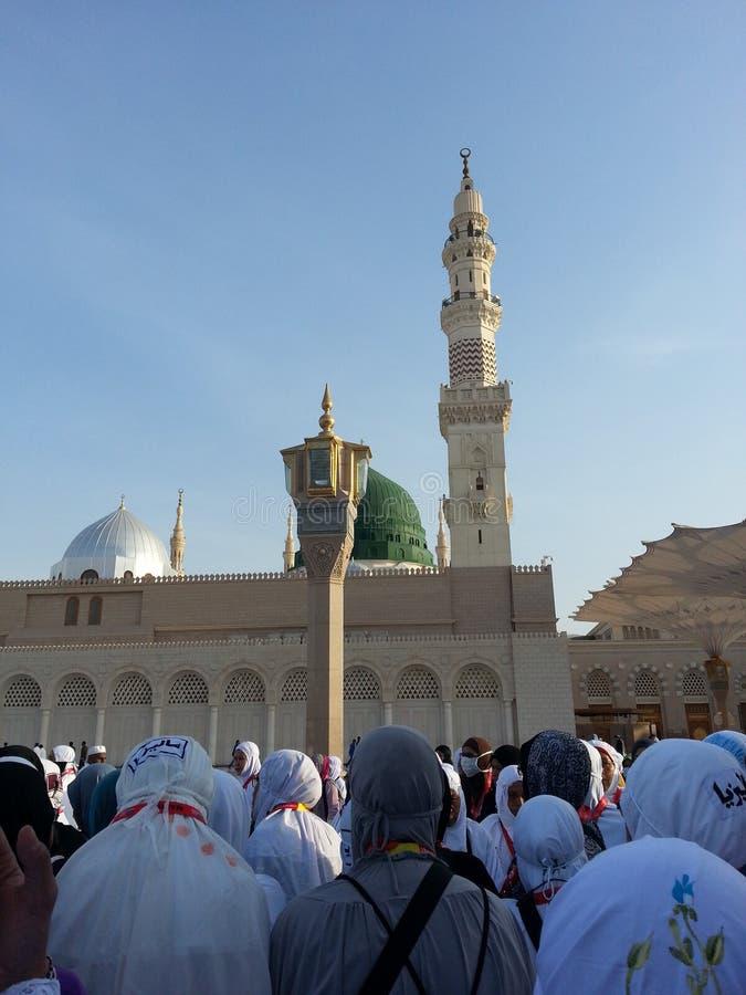 Mosquée de Madinah Nabawi photos stock
