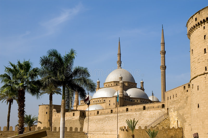 Mosquée de Mohamed Ali et de citadelle de Saladin images libres de droits