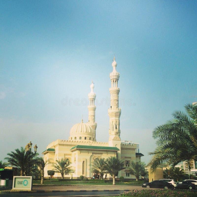 Mosquée de Noor d'Al au Charjah photo stock