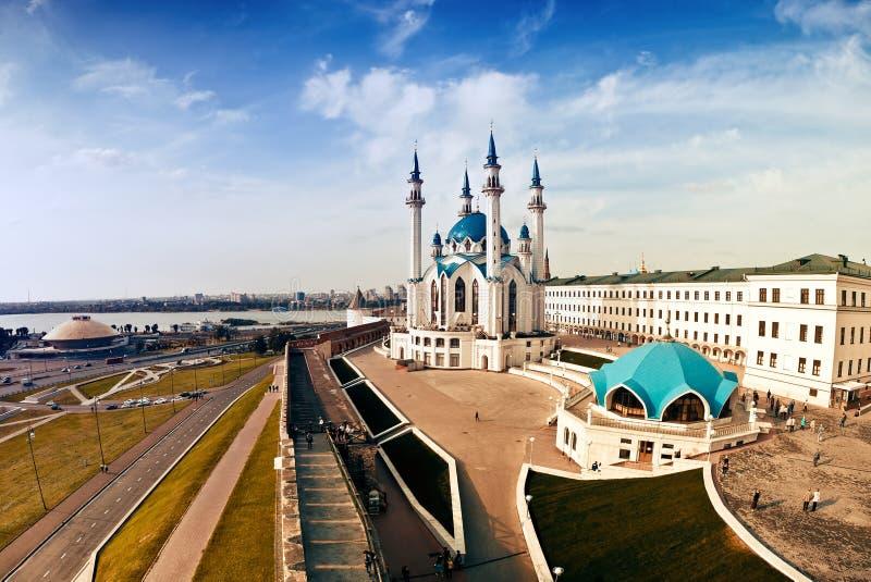 Mosquée de Qolsharif à Kazan Kremlin, Russie images libres de droits