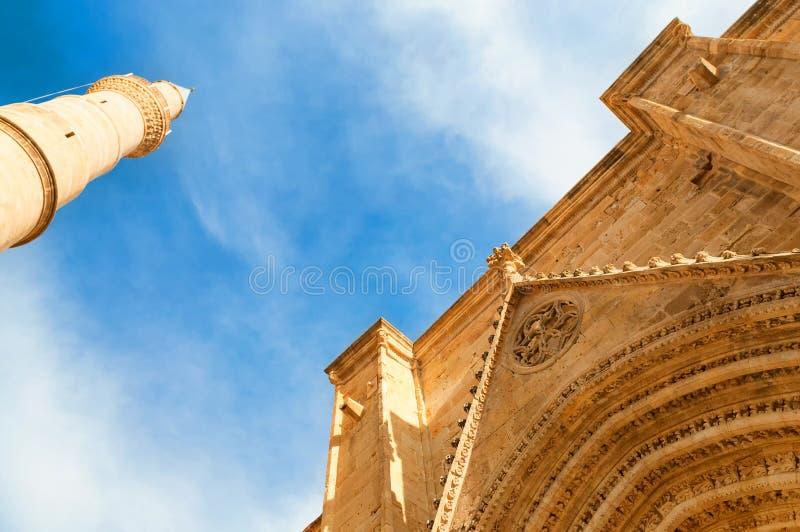 Mosquée de Selimiye, autrefois cathédrale de St Sophia nicosia photographie stock libre de droits