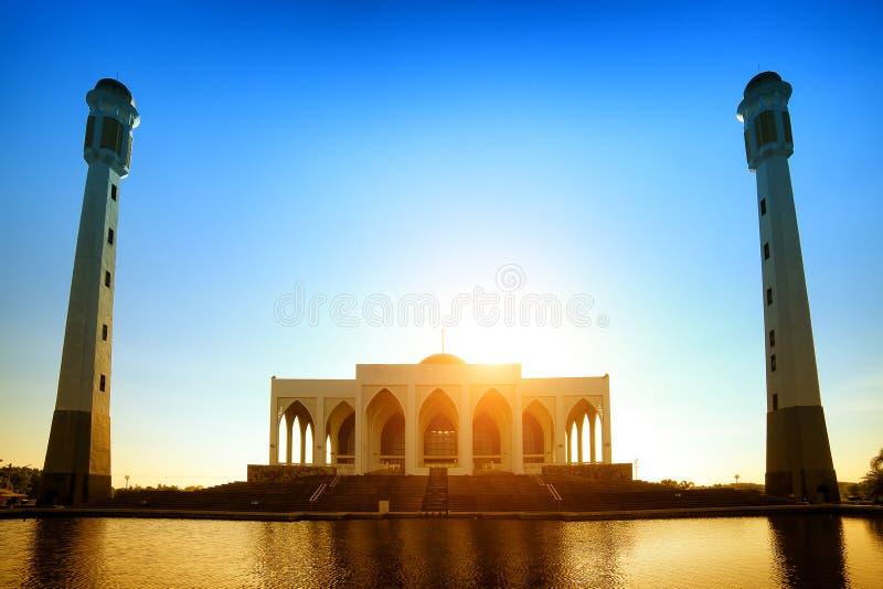 Mosquée de Songkhla au coucher du soleil en Thaïlande photo libre de droits