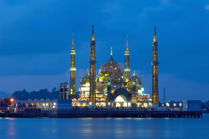 mosquée en cristal photographie stock