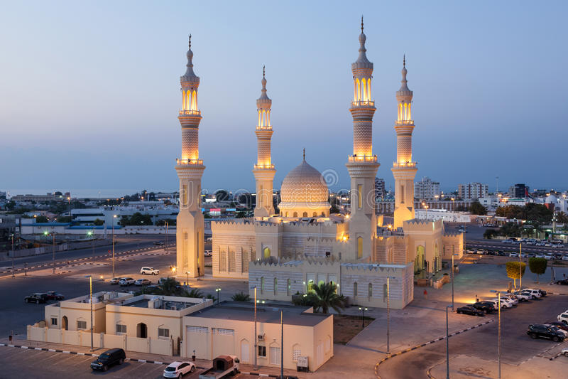 Mosquée en Ras al-Khaimah, EAU image stock