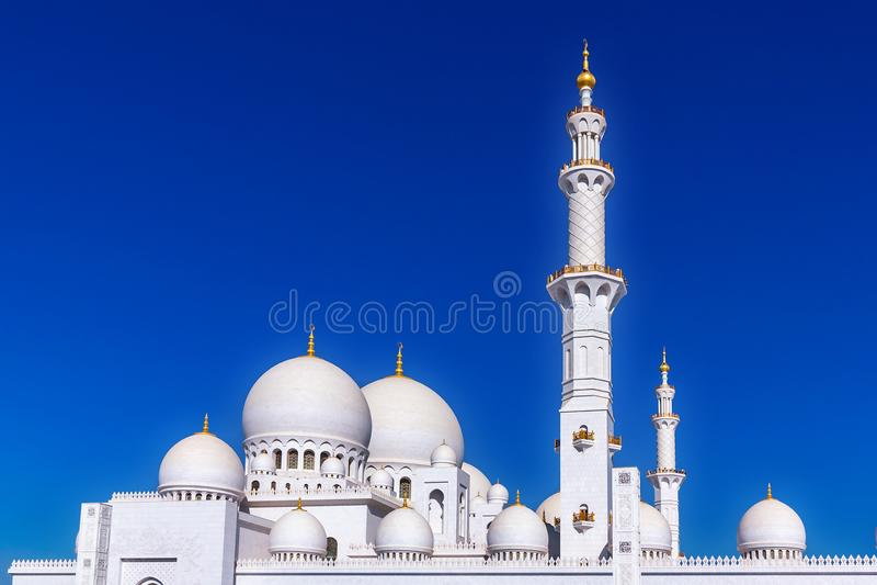 Mosquée grande célèbre de Sheikh Zayed en Abu Dhabi, Emirats Arabes Unis images stock