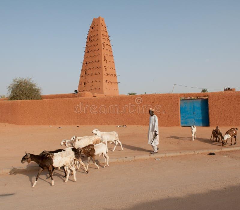 Mosquée grande d'Agadez images libres de droits
