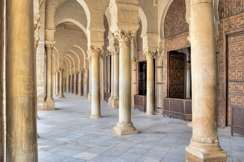 Mosquée grande dans Kairouan images stock