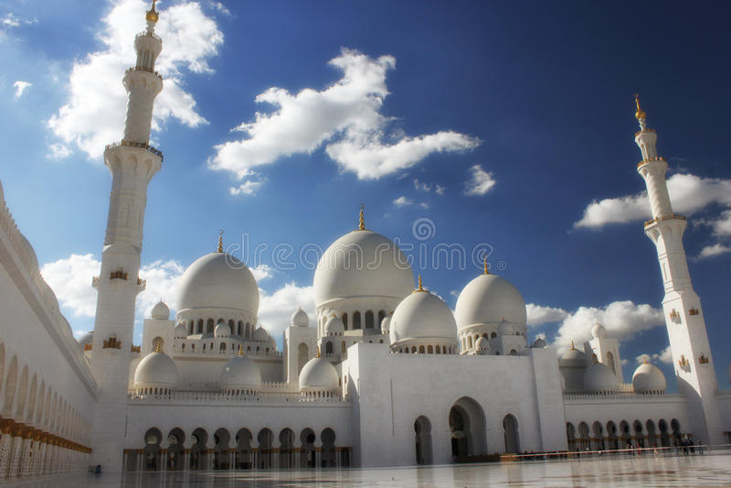 Mosquée grande en Abu Dhabi image stock