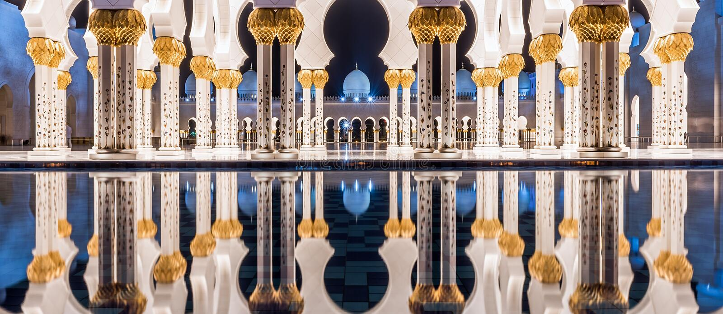 Mosquée grande en Abu Dhabi, EAU photographie stock libre de droits