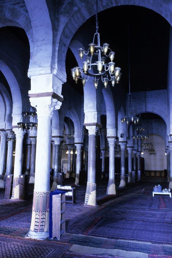 Mosquée grande Kairouan, Tunisie image stock