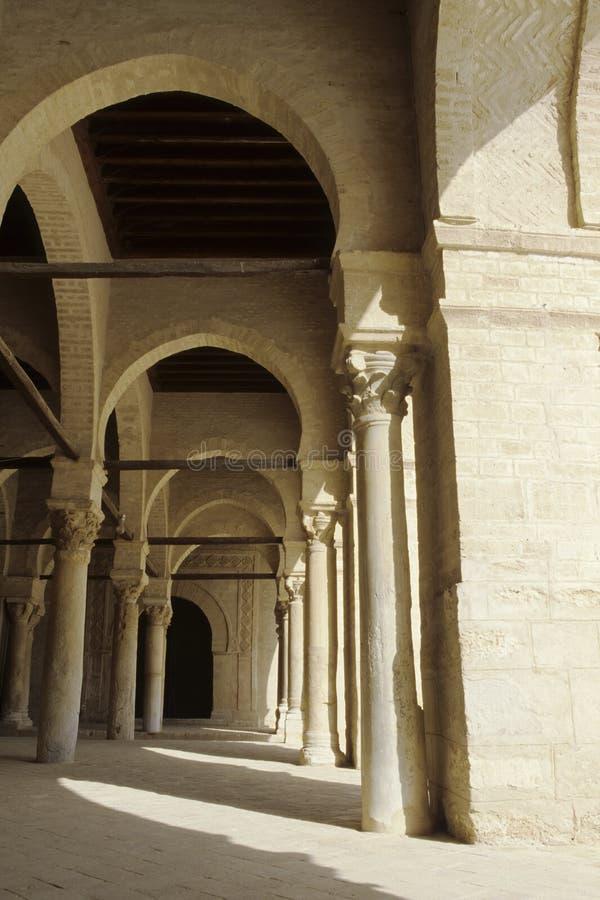 Mosquée grande Kairouan, Tunisie images libres de droits