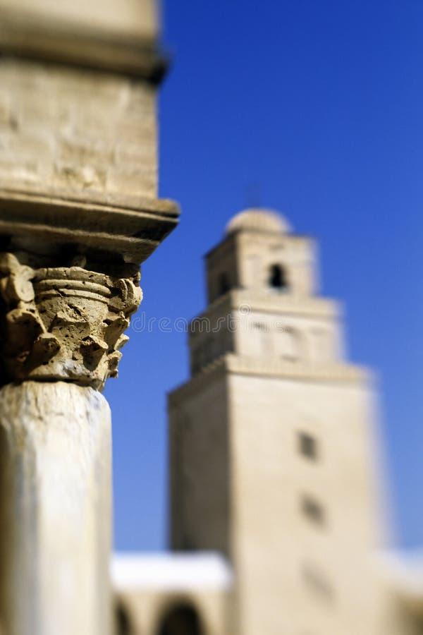 Mosquée grande Kairouan, Tunisie photo stock