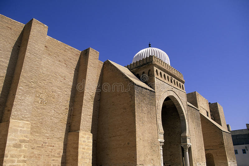 Mosquée grande Kairouan, Tunisie photographie stock