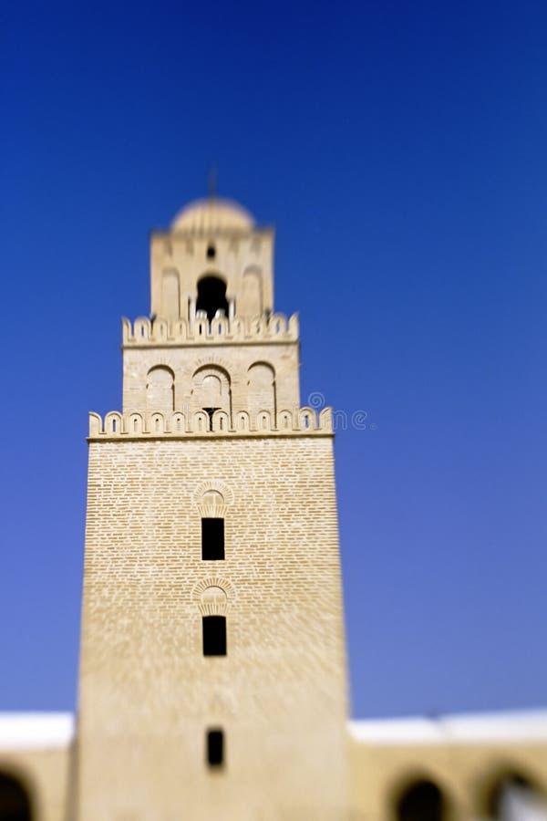 Mosquée grande Kairouan, Tunisie photographie stock libre de droits