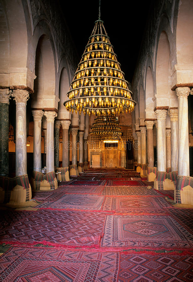 Mosquée grande Kairouan, Tunisie photos stock
