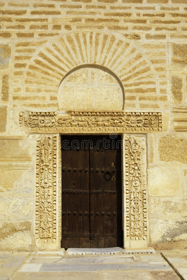 Mosquée grande Kariouan, Tunisie image stock