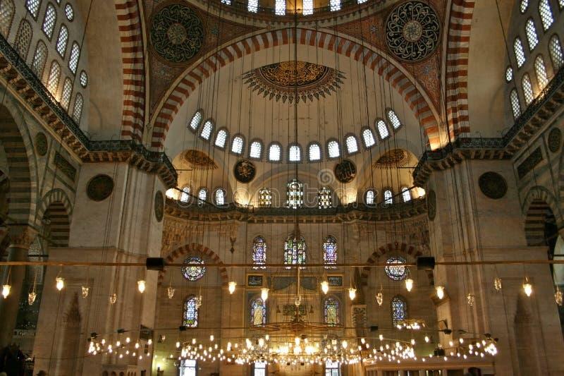 Mosquée intérieure et bleue, Istanbul images stock
