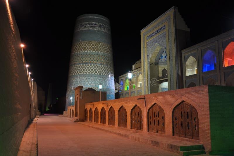 Mosquée médiévale dans la ville de Khiva, l'Ouzbékistan photographie stock