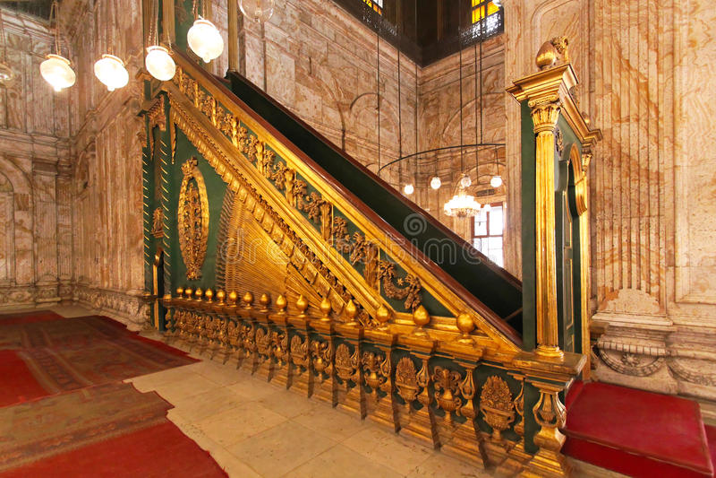 Mosquée Minbar d'albâtre photographie stock